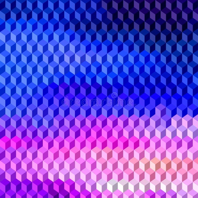 El vector abstracto 3D cubica el fondo geométrico libre illustration