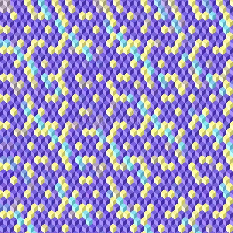 El vector abstracto 3D cubica el fondo geométrico stock de ilustración