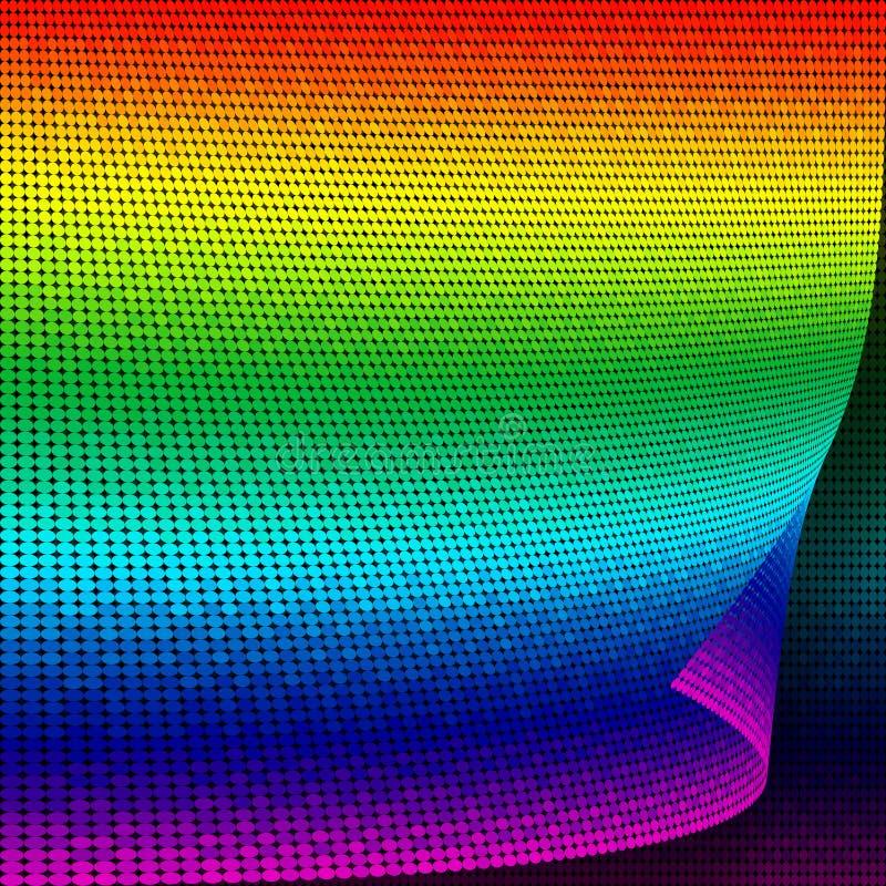 El vector abstracto puntea el fondo. ilustración del vector