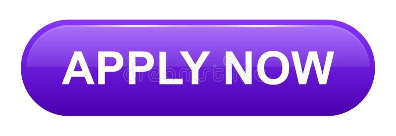 El vector ahora aplica el botón púrpura del web stock de ilustración