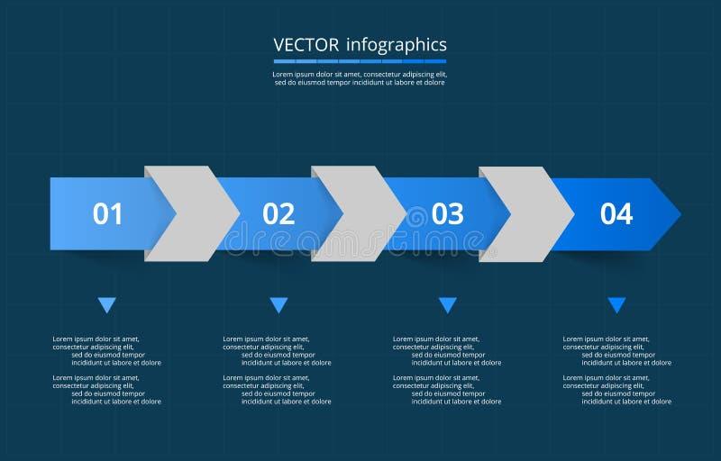 El vector alinea las flechas infographic stock de ilustración