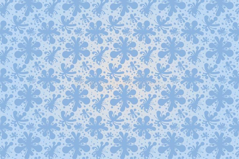 El vector azul florece el modelo inconsútil para el ilustrador ilustración del vector