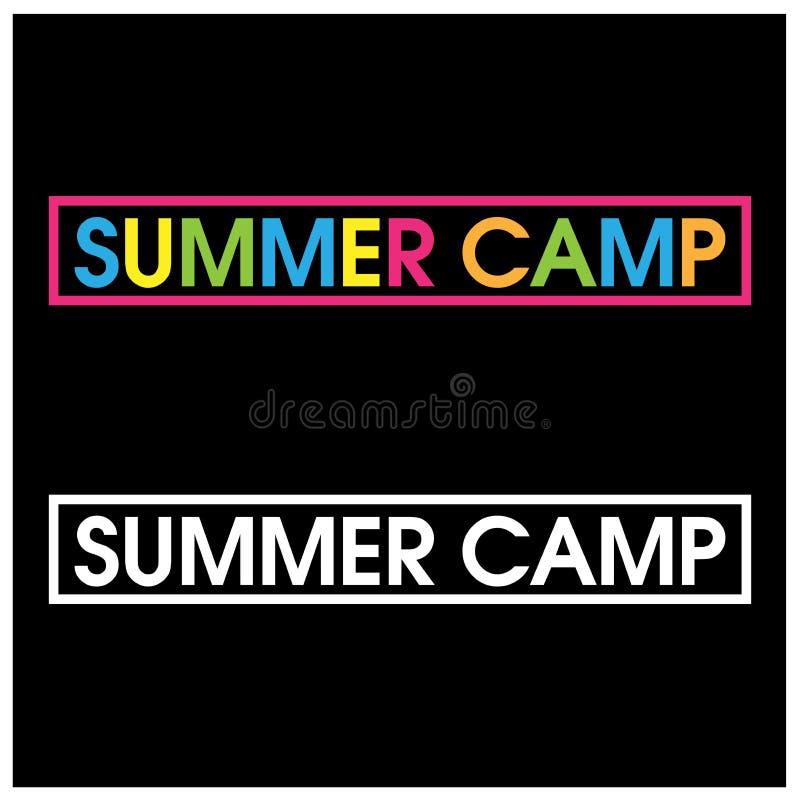 El vector colorido pone letras al icono vector del campamento de verano de la palabra libre illustration