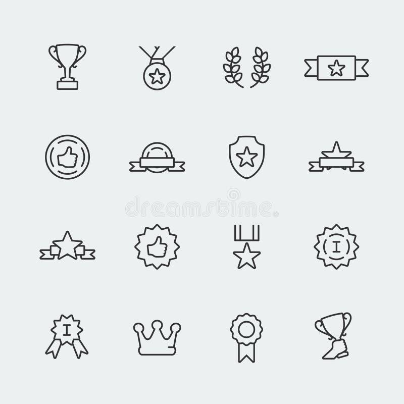 El vector concede los iconos fijados stock de ilustración