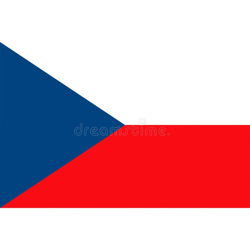 El vector de la bandera de la República Checa aisló ilustración del vector