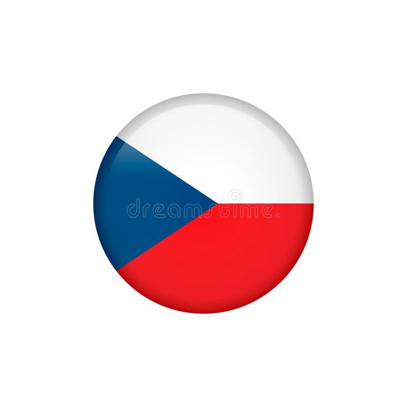 El vector de la bandera de la República Checa aisló 5 ilustración del vector