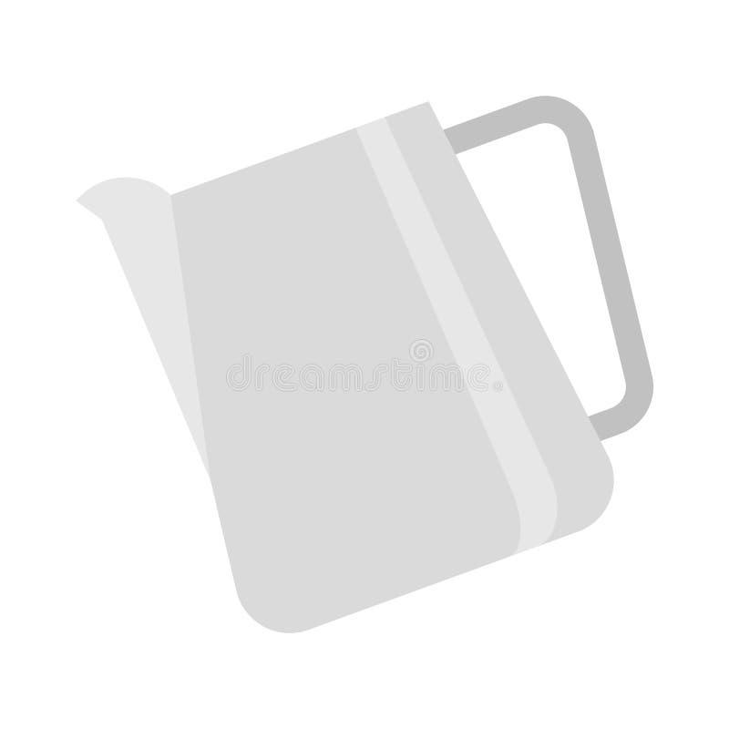 El vector de la jarra, café relacionó el icono plano del estilo stock de ilustración