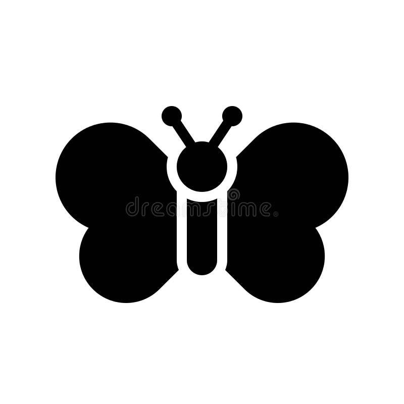 El vector de la mariposa, aisló el icono sólido del estilo de Pascua stock de ilustración