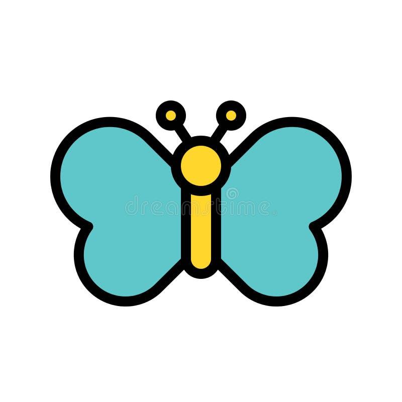 El vector de la mariposa, Pascua llenó el movimiento editable del icono stock de ilustración