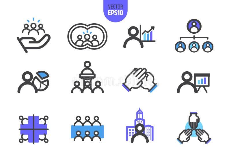 El vector de la organización ilustra la línea icono stock de ilustración