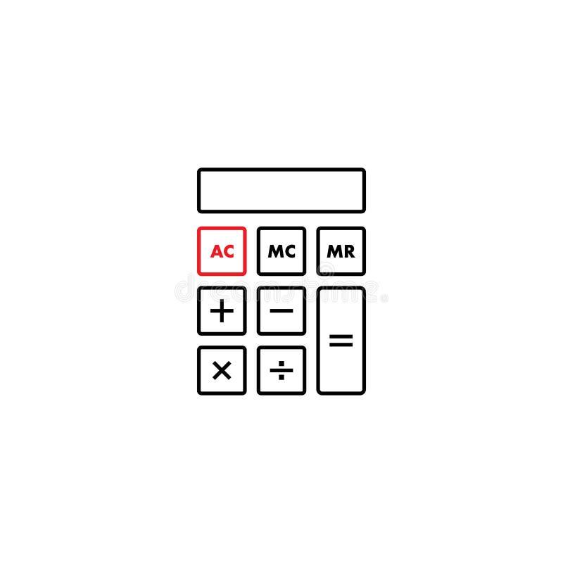 El vector de la plantilla del diseño gráfico de la calculadora aisló ilustración del vector