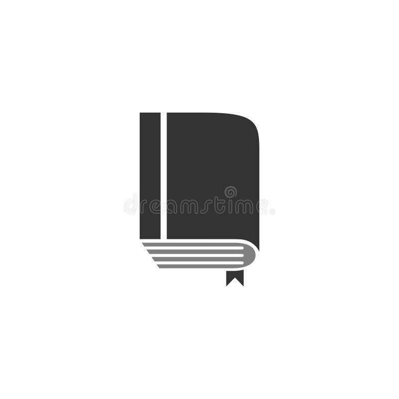 El vector de la plantilla del diseño gráfico del icono del libro aisló stock de ilustración