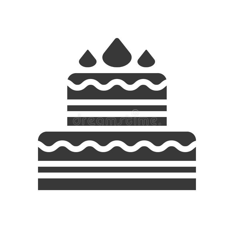 El vector de la torta de la Navidad, la Navidad relacionó el icono sólido del estilo stock de ilustración