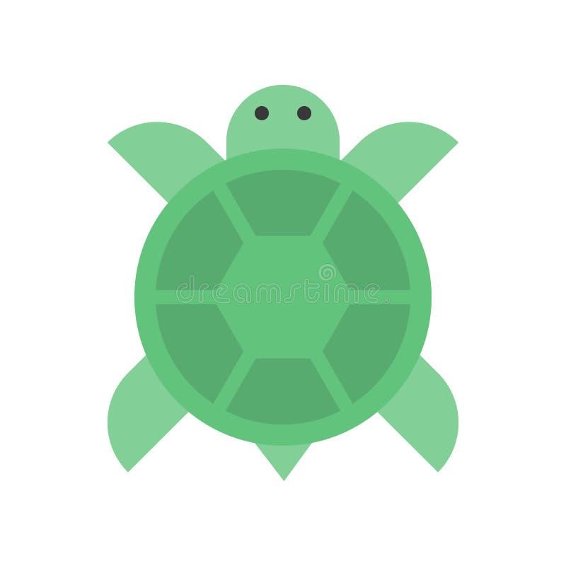 El vector de la tortuga, Año Nuevo chino relacionó el icono plano del estilo libre illustration