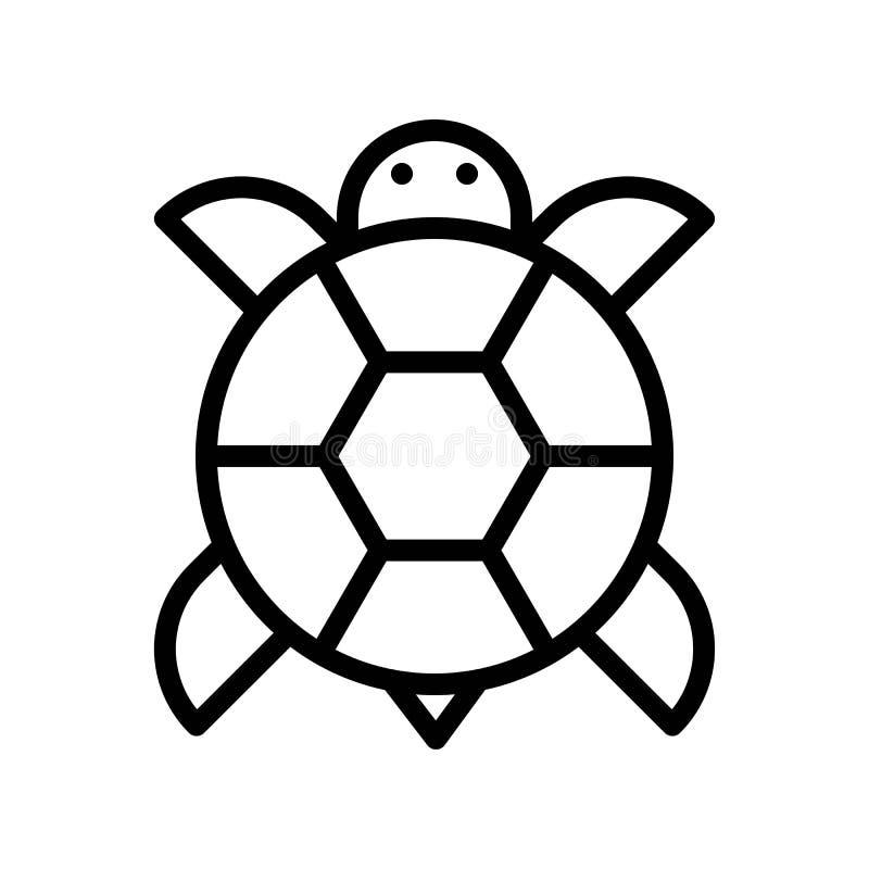 El vector de la tortuga, Año Nuevo chino relacionó la línea movimiento editable del icono del estilo libre illustration