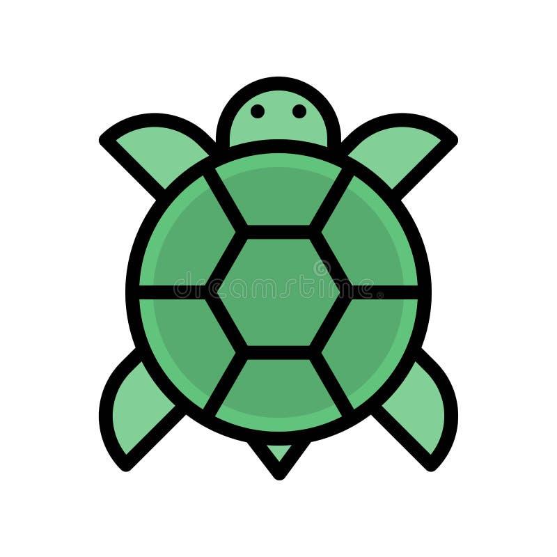 El vector de la tortuga, Año Nuevo chino relacionó el movimiento editable llenado del icono del estilo ilustración del vector