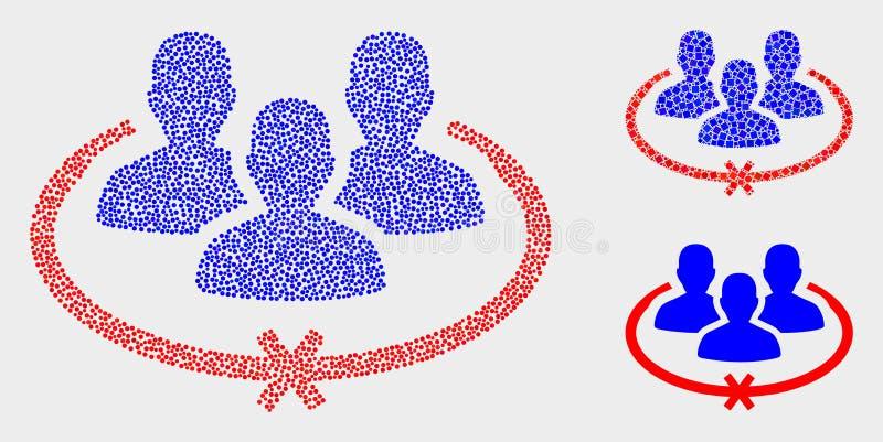 El vector de Pixelated encarceló iconos de las personas libre illustration