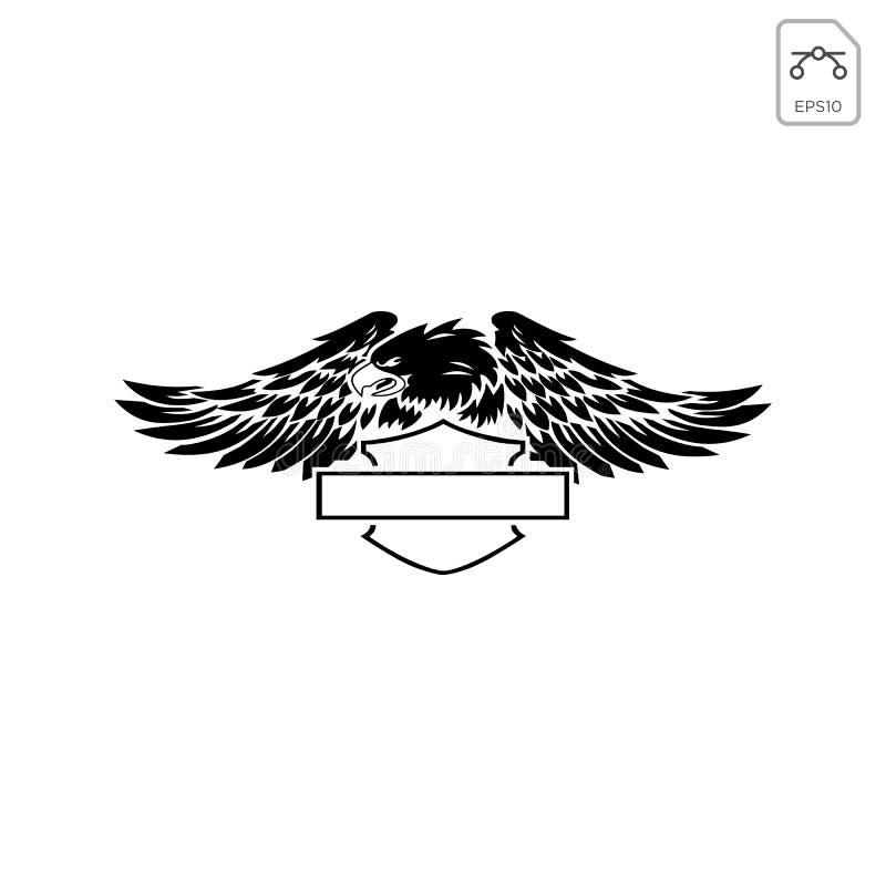 el vector del extracto del emblema o del icono de davidson del harley aisló stock de ilustración