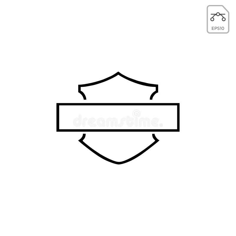 el vector del extracto del emblema o del icono de davidson del harley aisl? libre illustration
