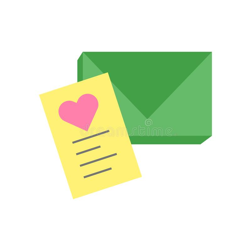 El vector del icono del correo electrónico aislado en el fondo blanco, envía por correo electrónico la muestra, símbolos de la pr libre illustration