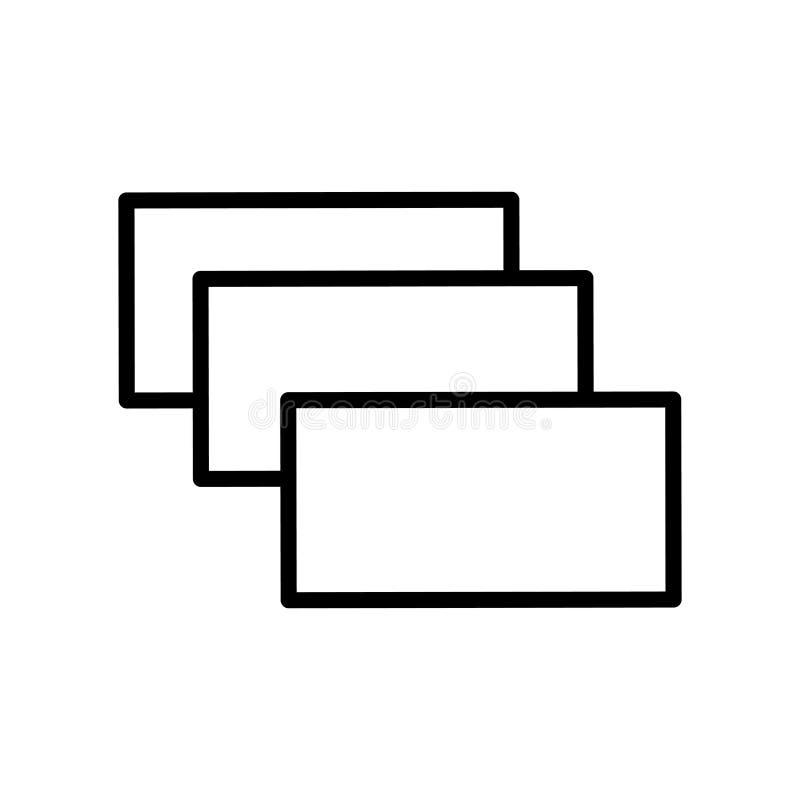 El vector del icono de la capa aislado en el fondo blanco, acoda elementos de la muestra, de la línea y del esquema en estilo lin libre illustration