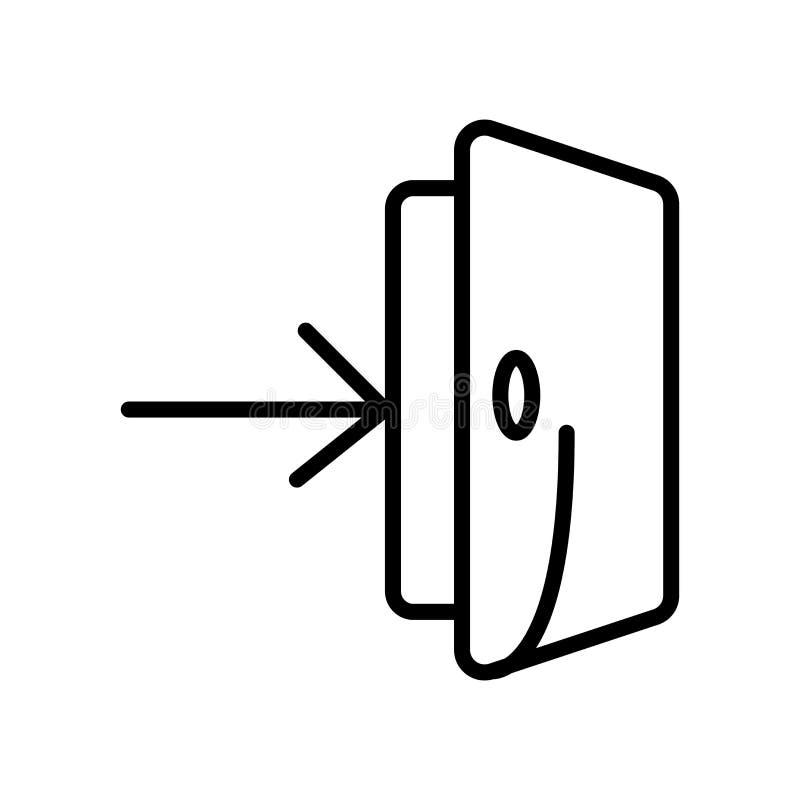 El vector del icono de la entrada aislado en el fondo blanco, encanta elementos de la muestra, de la línea y del esquema en estil libre illustration