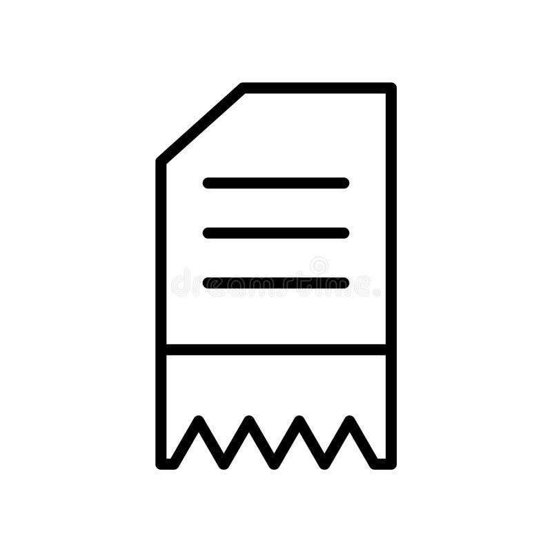 El vector del icono de la factura aislado en el fondo blanco, factura la muestra, la línea o la muestra linear, diseño del elemen stock de ilustración