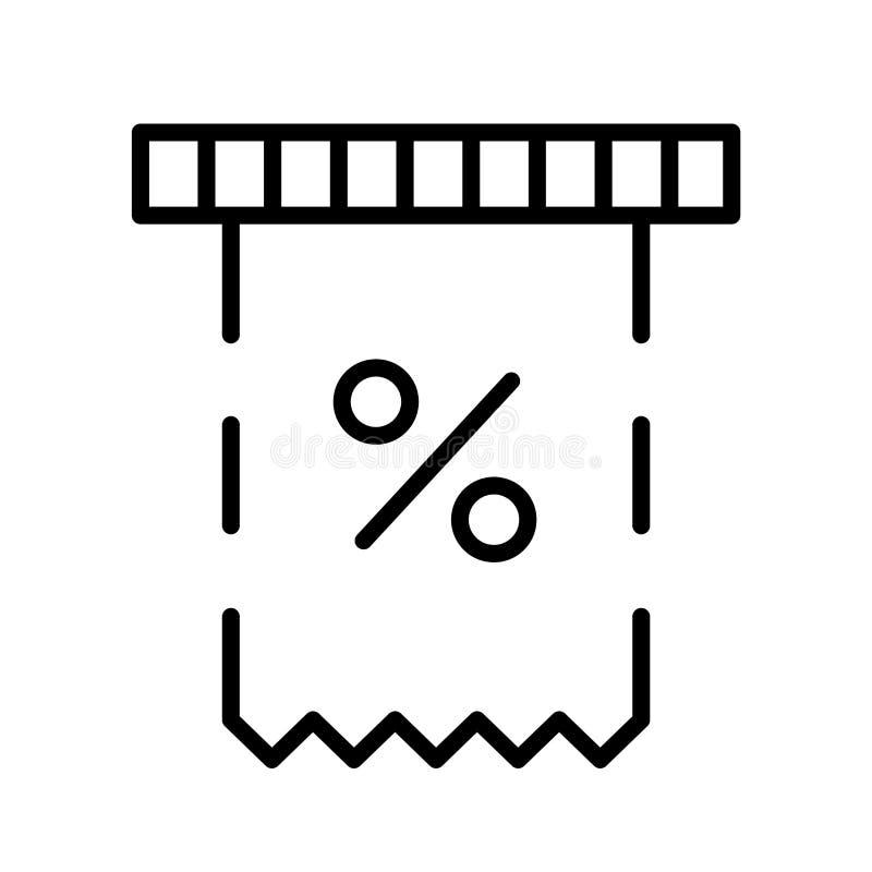 El vector del icono de la factura aislado en el fondo blanco, factura la muestra, la línea símbolo o el diseño linear del element libre illustration