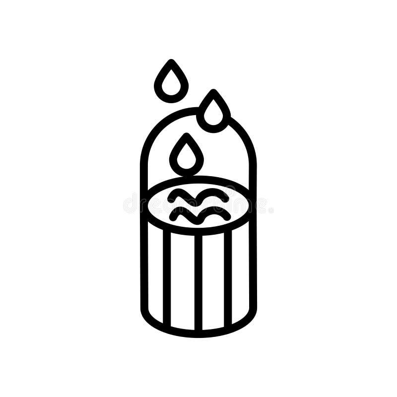 El vector del icono de la falta de definición aislado en el fondo blanco, empaña elementos de la muestra, de la línea y del esque libre illustration