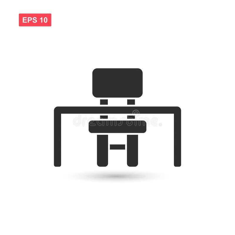 El vector del icono de la silla de escritorio de la escuela aisló 6 libre illustration