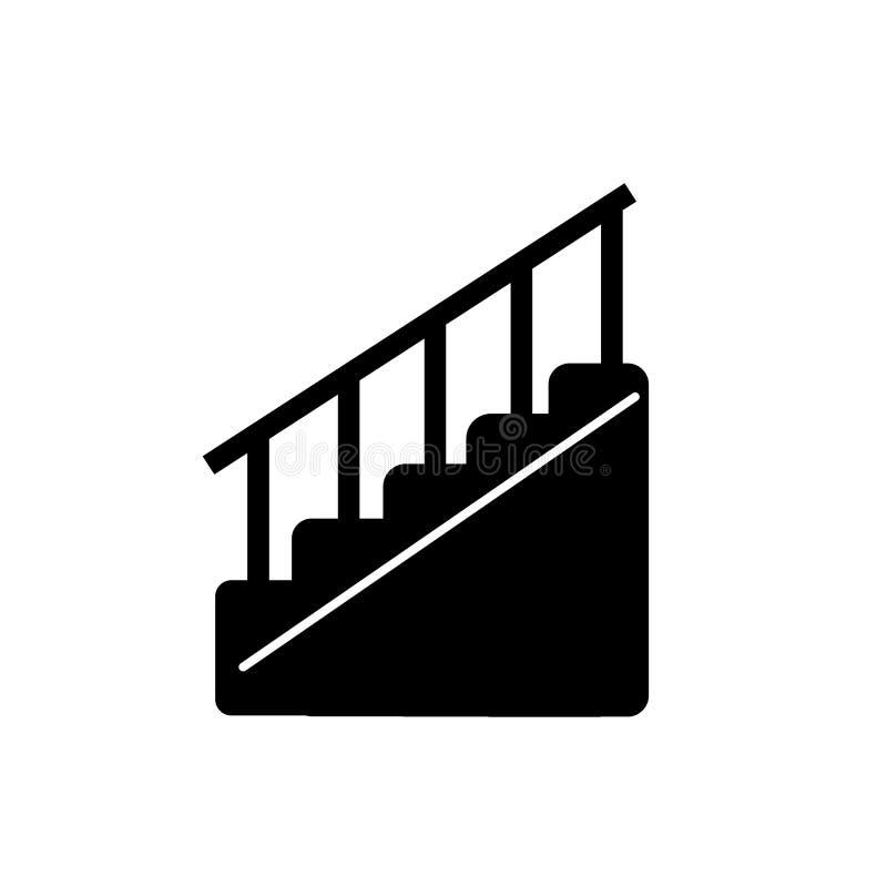 El vector del icono de las escaleras aislado en el fondo blanco, escaleras firma stock de ilustración