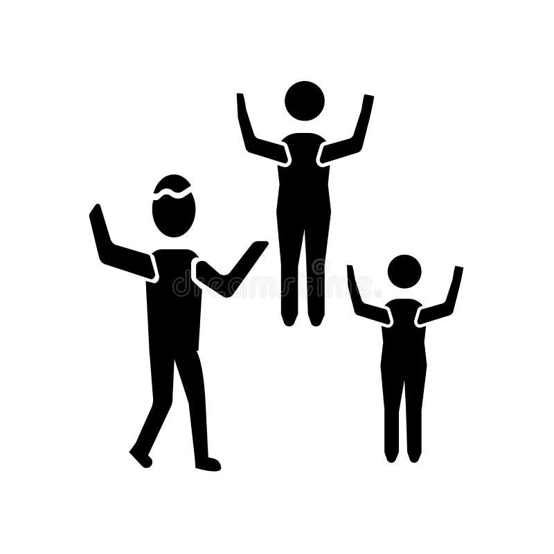 El vector del icono de las señales de mano del tráfico aislado en el fondo blanco, señales de mano del tráfico firma stock de ilustración