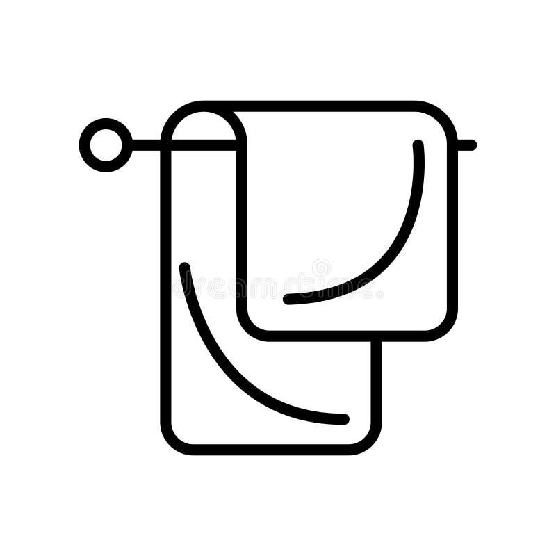 El vector del icono de las toallas aislado en el fondo blanco, toallas firma, alinea y resume elementos en estilo linear stock de ilustración