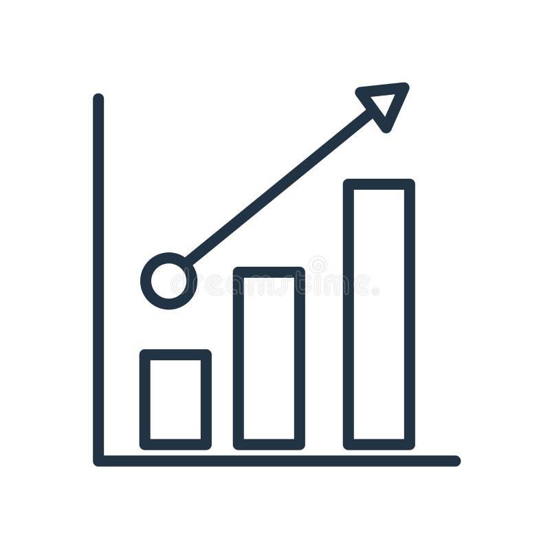 El vector del icono de las ventas aislado en el fondo blanco, ventas firma ilustración del vector