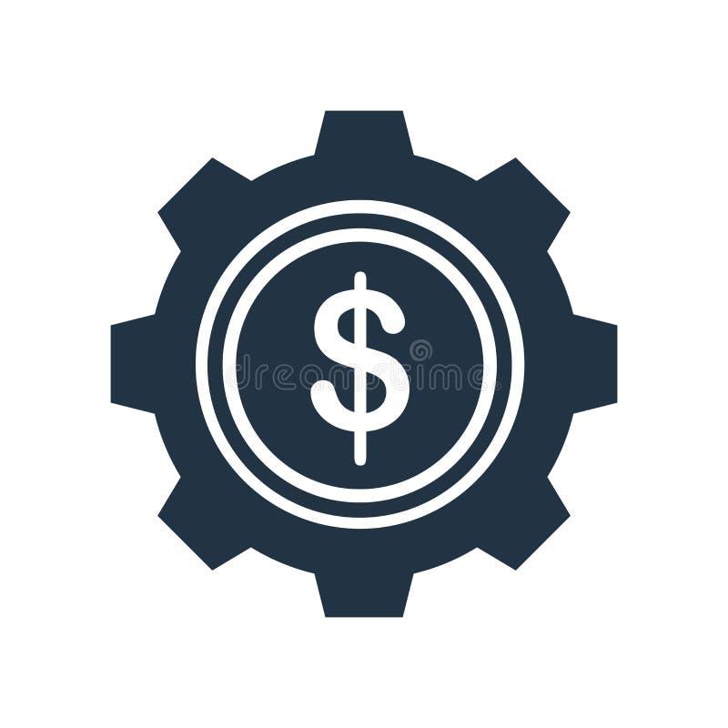 El vector del icono de los ajustes aislado en el fondo blanco, ajustes firma stock de ilustración