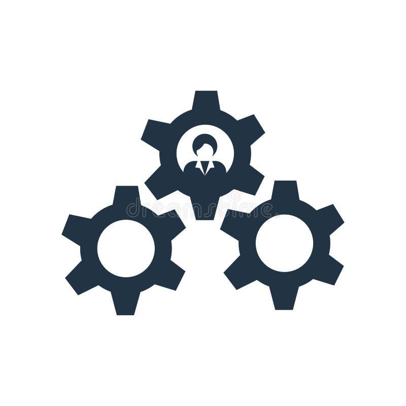 El vector del icono de los ajustes aislado en el fondo blanco, ajustes firma ilustración del vector