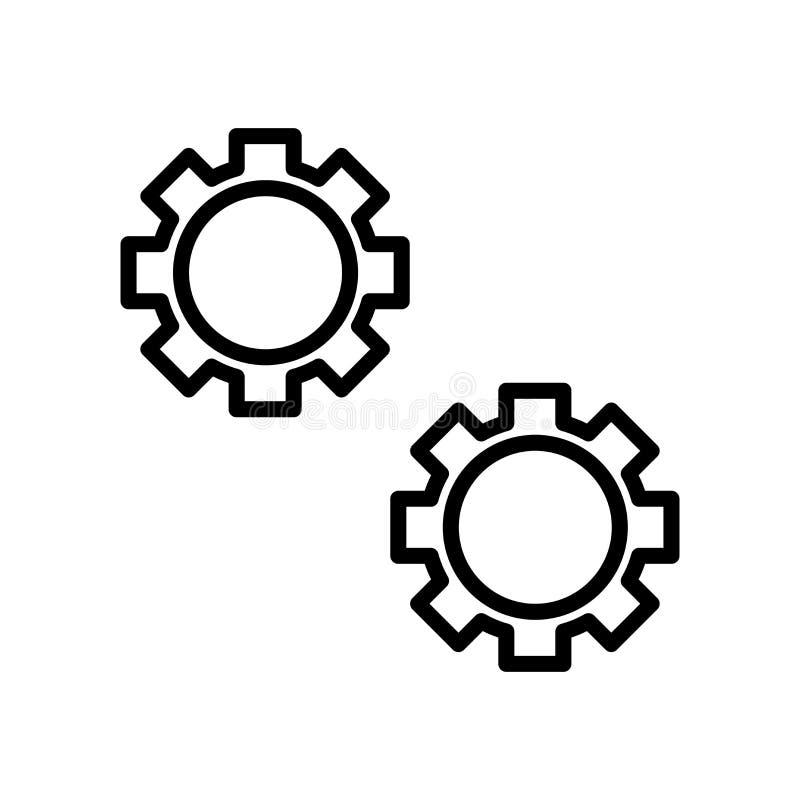 El vector del icono de los ajustes aislado en el fondo blanco, ajustes firma, alinea y resume elementos en estilo linear ilustración del vector