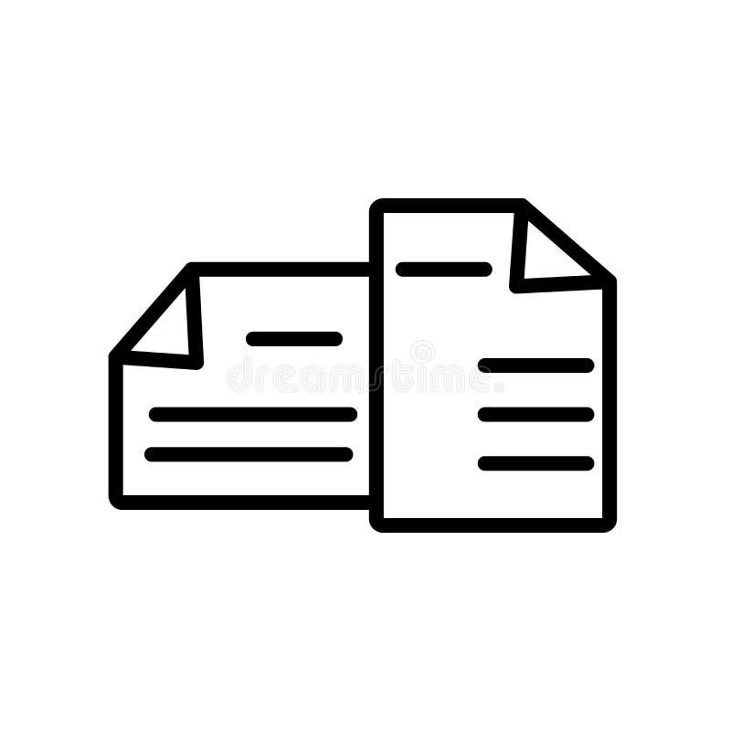 El vector del icono de los exámenes aislado en el fondo blanco, exámenes firma, lin stock de ilustración
