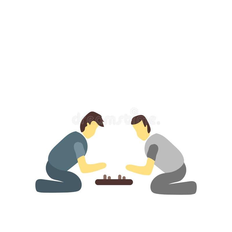 El vector del icono de los juegos de mesa aislado en el fondo blanco, juegos de mesa firma libre illustration