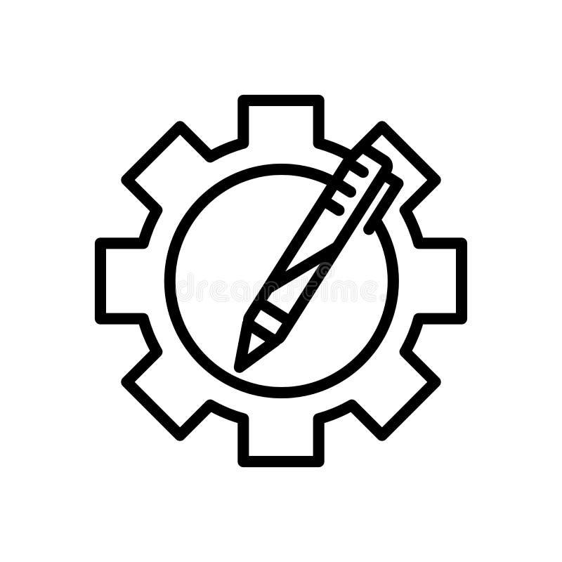 El vector del icono de los recursos aislado en el fondo blanco, recursos firma, alinea y resume elementos en estilo linear stock de ilustración