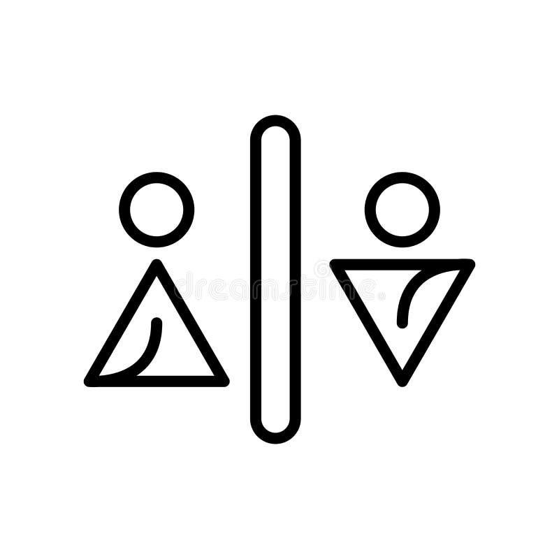 El vector del icono de los retretes aislado en el fondo blanco, retretes firma, alinea y resume elementos en estilo linear ilustración del vector