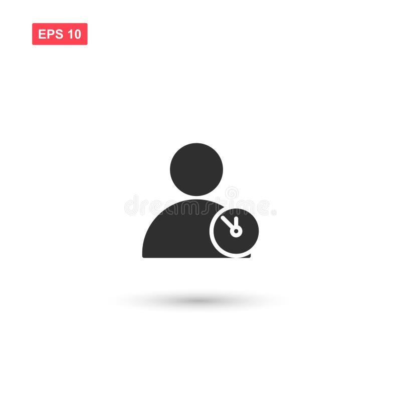 El vector del icono del reloj del usuario aisló 2 libre illustration