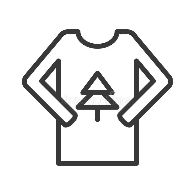 El vector del suéter, Chirstmas relacionó el icono editable del esquema libre illustration