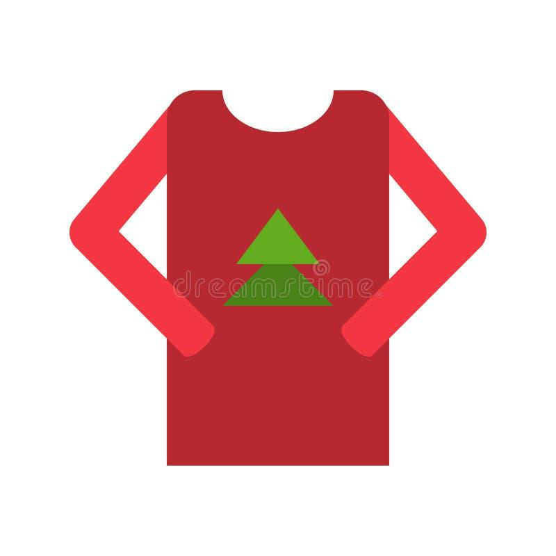El vector del suéter, Chirstmas relacionó el icono plano del estilo libre illustration