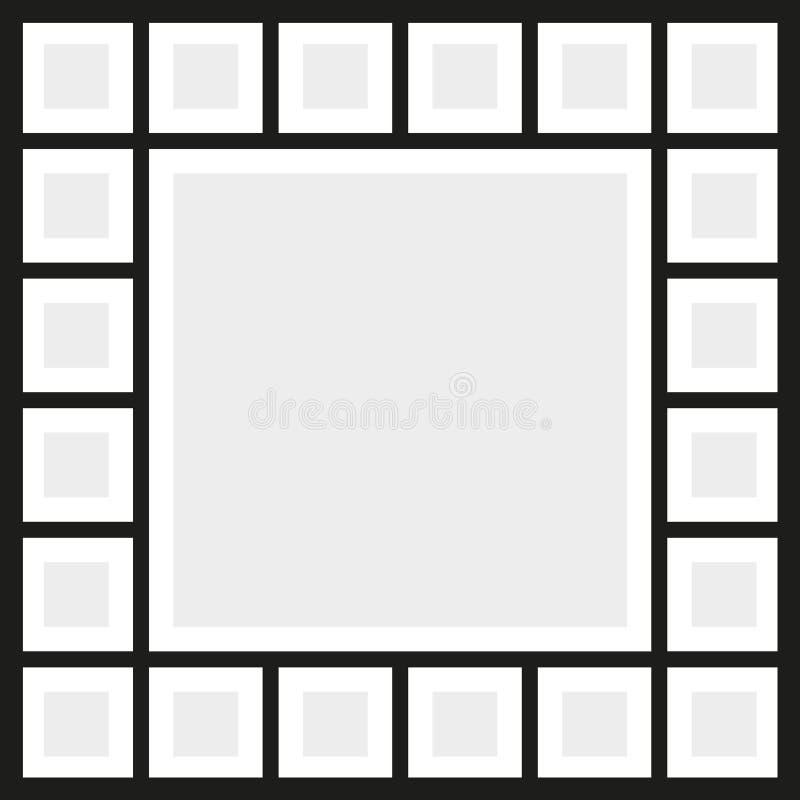 El vector enmarca el collage de la foto libre illustration