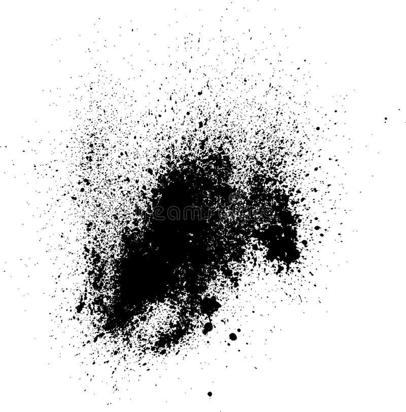 El vector gota-salpica foto de archivo libre de regalías