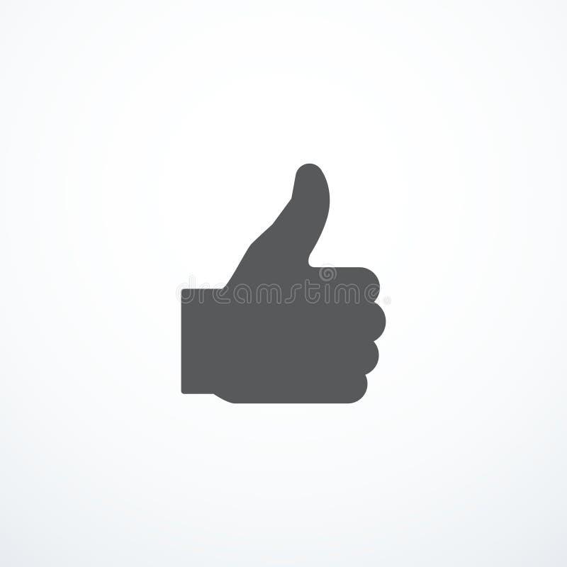 El vector le gusta el icono stock de ilustración
