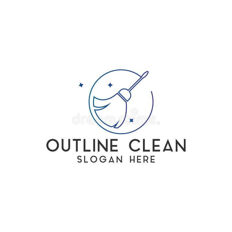 El vector limpio de la plantilla del diseño del logotipo aisló foto de archivo libre de regalías