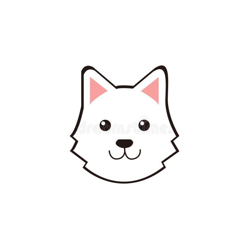 El vector lindo de la cara de perros del tzu de Shih stock de ilustración