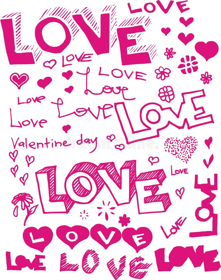 El vector redacta amor libre illustration